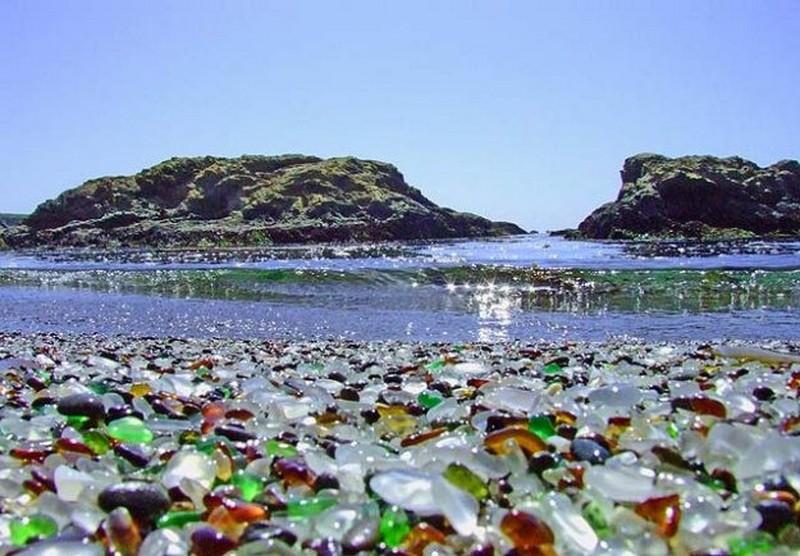 Стеклянный пляж калифорнии фото