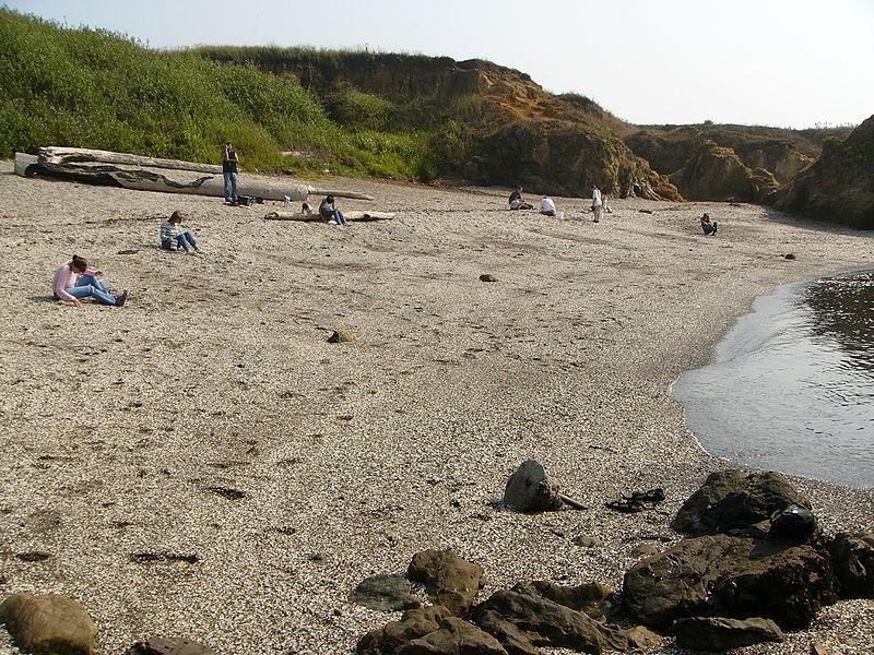 Стеклянный пляж США Америка